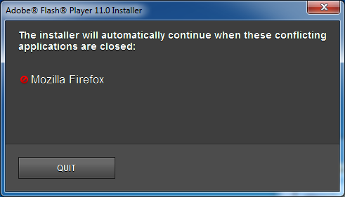 Another Flash Installer Error - Error 1722 NewCustomAction1