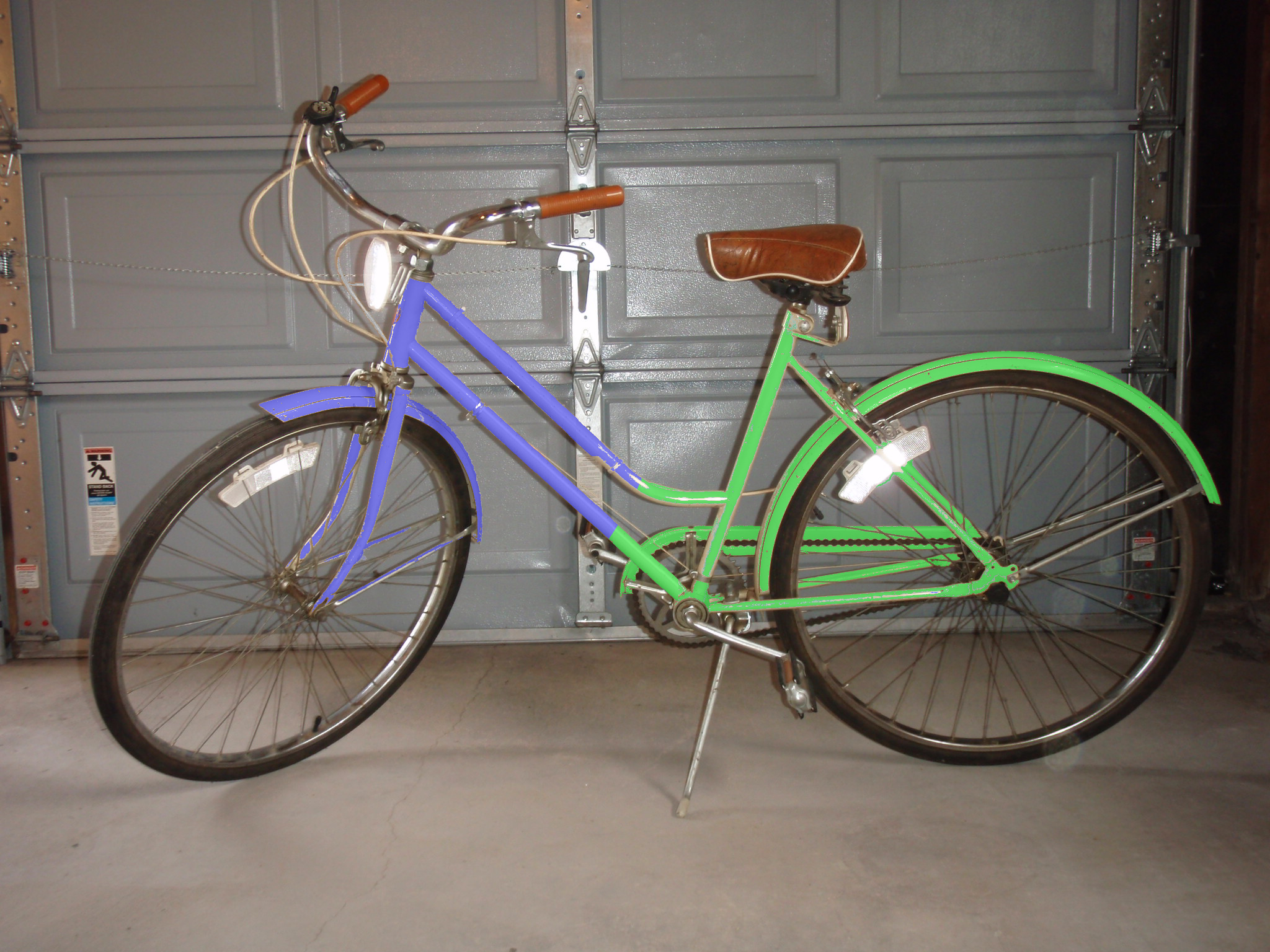 The proposed bicycle painted in GIMP